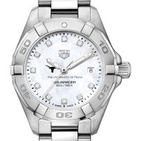 UT Austin Women's TAG Heuer Steel Aquaracer with MOP Diamond Dial
