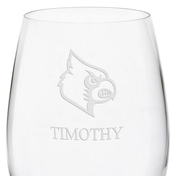 University of Louisville Red Wine Glasses - Set of 4 - Image 3