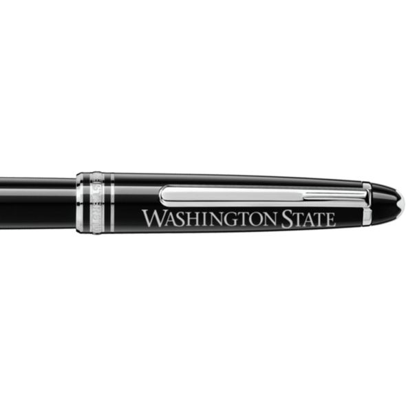 Washington State University Montblanc Meisterstück Classique Rollerball Pen in Platinum - Image 2