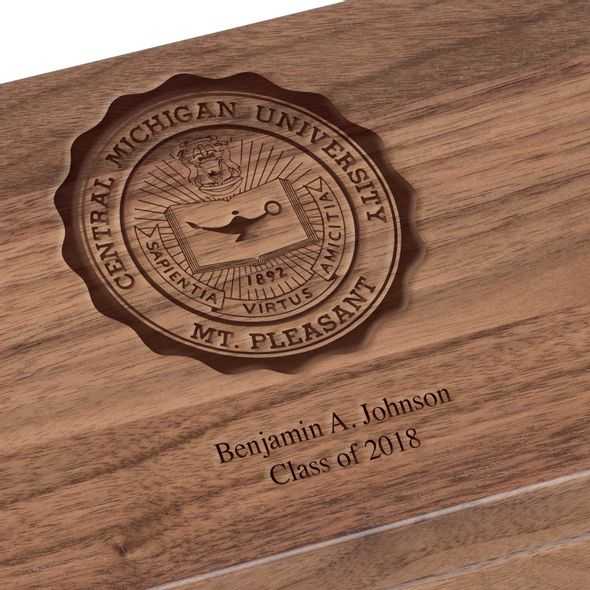 Central Michigan Solid Walnut Desk Box - Image 3
