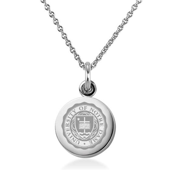 University of notre dame necklace with charm in sterling silver university of notre dame necklace with charm in sterling silver aloadofball Choice Image