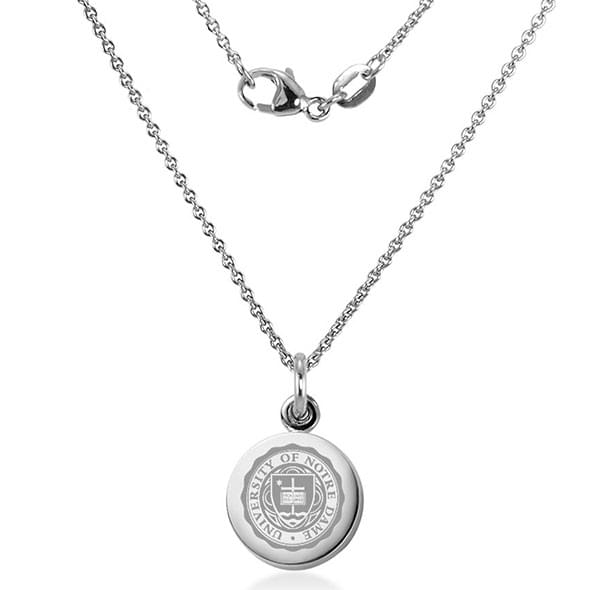 University of notre dame necklace with charm in sterling silver university of notre dame necklace with charm in sterling silver image 2 aloadofball Images
