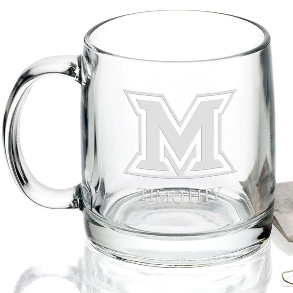 Miami University 13 oz Glass Coffee Mug - Image 2