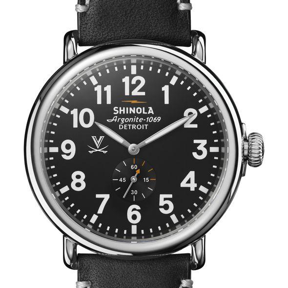 UVA Shinola Watch, The Runwell 47mm Black Dial