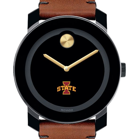 Iowa State University Men's Movado BOLD with Brown Leather Strap