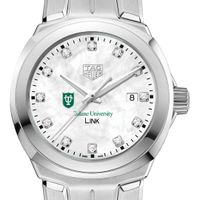 Tulane University TAG Heuer Diamond Dial LINK for Women