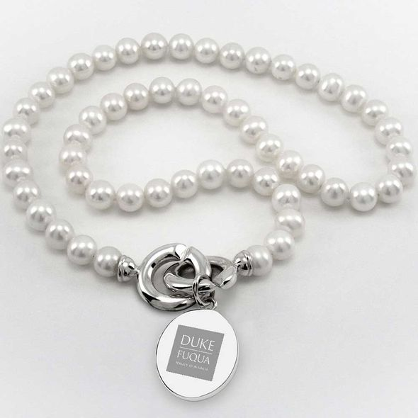 Duke Fuqua Pearl Necklace with Sterling Silver Charm