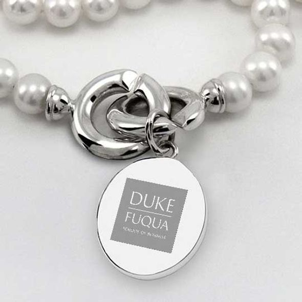 Duke Fuqua Pearl Necklace with Sterling Silver Charm - Image 2