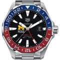 Michigan Ross Men's TAG Heuer Automatic GMT Aquaracer with Black Dial and Blue & Red Bezel - Image 1