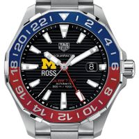 Michigan Ross Men's TAG Heuer Automatic GMT Aquaracer with Black Dial and Blue & Red Bezel