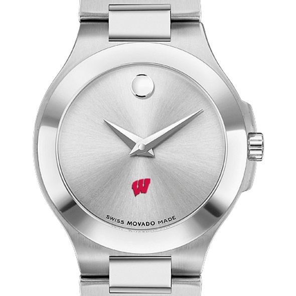 Wisconsin Women's Movado Collection Stainless Steel Watch with Silver Dial - Image 1