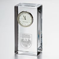 UChicago Tall Glass Desk Clock by Simon Pearce