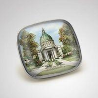 Naval Academy Eglomise Lapel Pin