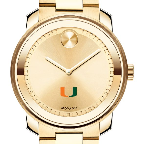 University of Miami Men's Movado Gold Bold - Image 1