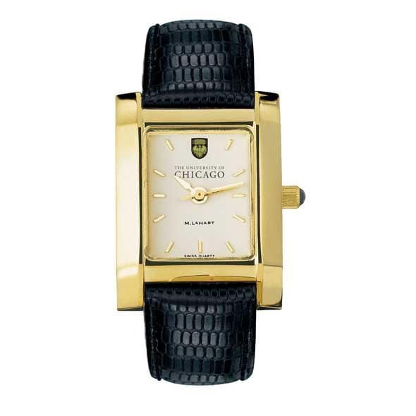 Chicago Women's Gold Quad Watch with Leather Strap - Image 2