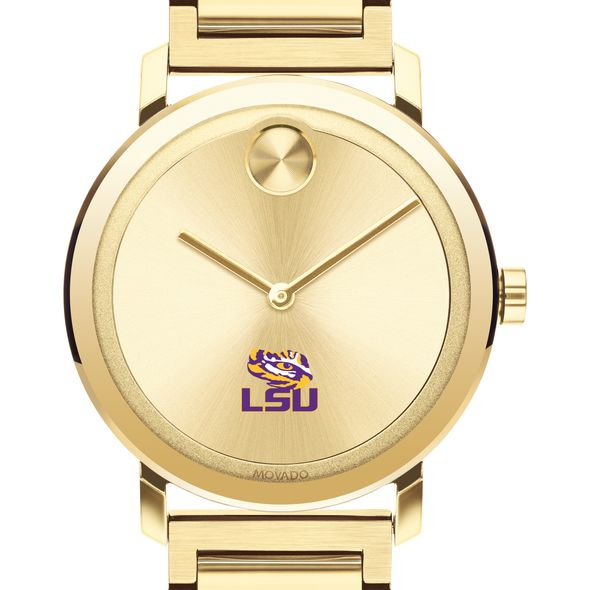 LSU Men's Movado Bold Gold with Bracelet - Image 1