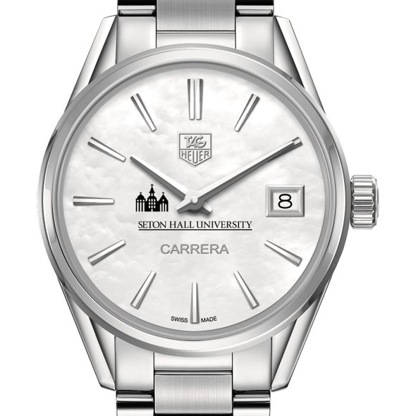 Seton Hall Women's TAG Heuer Steel Carrera with MOP Dial - Image 1