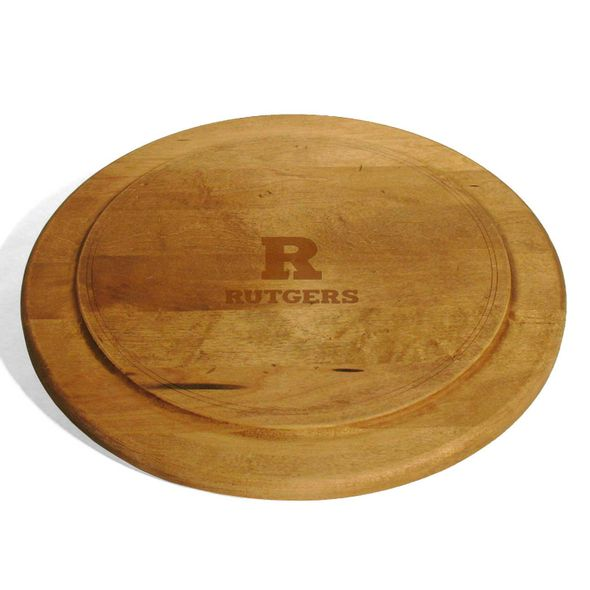 Rutgers University Round Bread Server - Image 1
