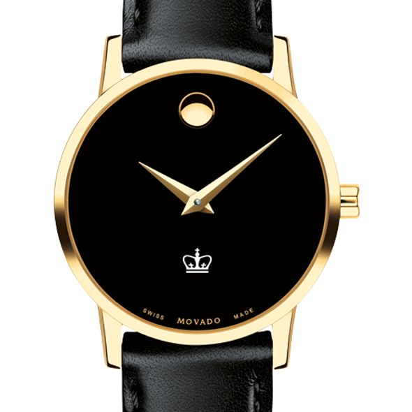 Columbia University Women's Movado Gold Museum Classic Leather