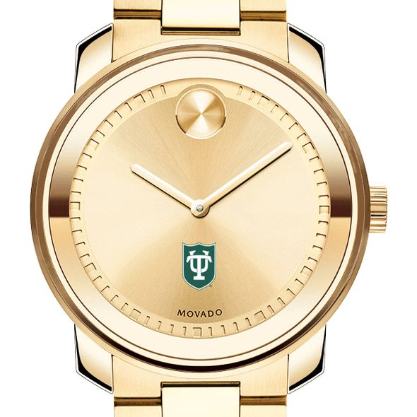 Tulane University Men's Movado Gold Bold