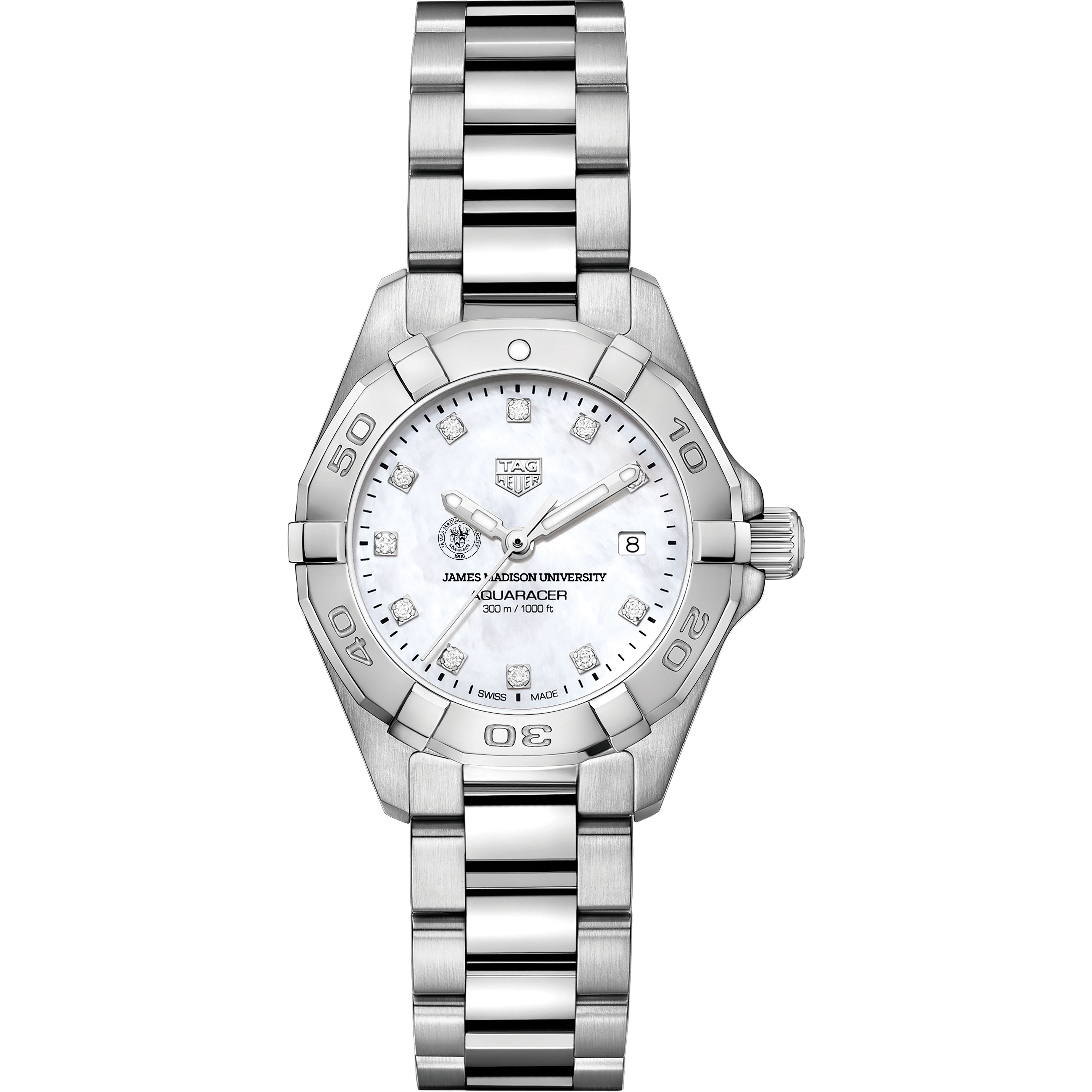 James Madison W's TAG Heuer Steel Aquaracer w MOP Dia Dial - Image 2