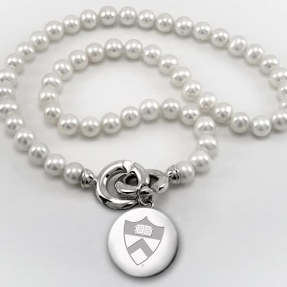 Princeton Pearl Necklace with Sterling Silver Charm