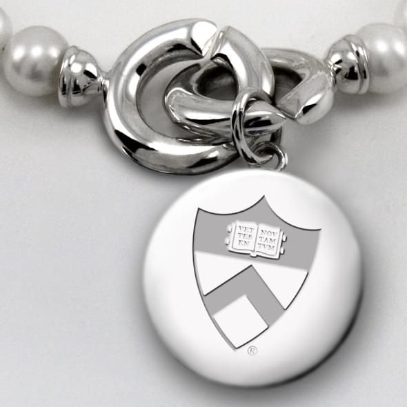Princeton Pearl Necklace with Sterling Silver Charm - Image 2