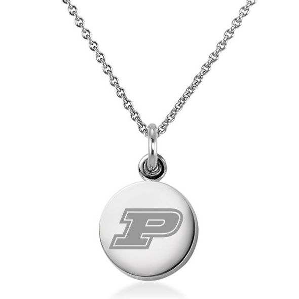 Purdue University Necklace with Charm in Sterling Silver