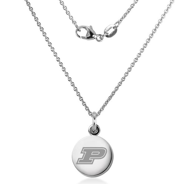 Purdue University Necklace with Charm in Sterling Silver - Image 2