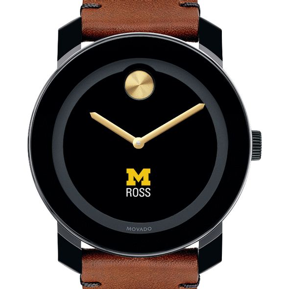 Michigan Ross Men's Movado BOLD with Brown Leather Strap - Image 1