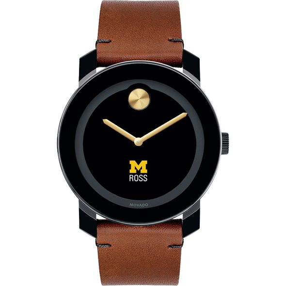 Michigan Ross Men's Movado BOLD with Brown Leather Strap - Image 2