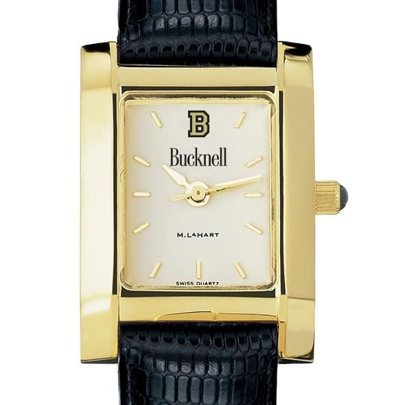 Bucknell Women's Gold Quad with Leather Strap