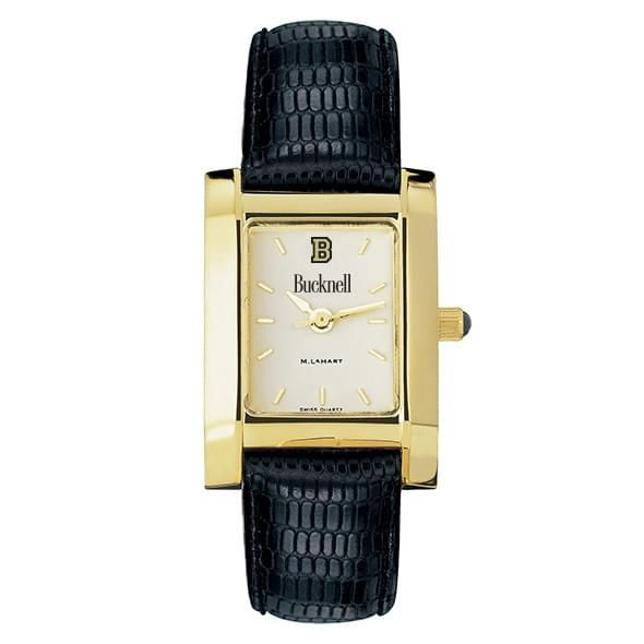 Bucknell Women's Gold Quad with Leather Strap - Image 2