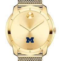 University of Michigan Men's Movado Gold Bold 44