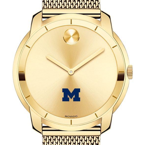 University of Michigan Men's Movado Gold Bold 44