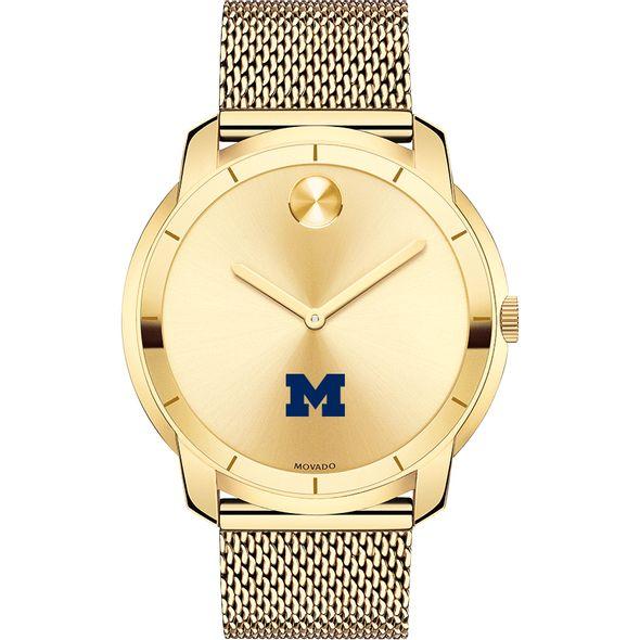 University of Michigan Men's Movado Gold Bold 44 - Image 2