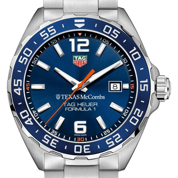 Texas McCombs Men's TAG Heuer Formula 1 with Blue Dial & Bezel - Image 1