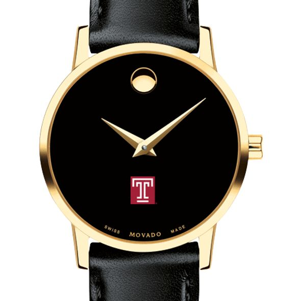Temple Women's Movado Gold Museum Classic Leather