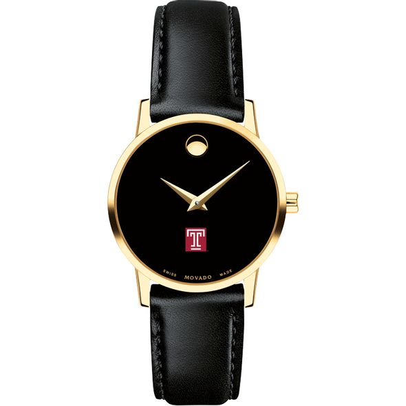 Temple Women's Movado Gold Museum Classic Leather - Image 2