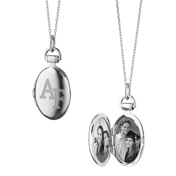 US Air Force Academy Monica Rich Kosann Petite Locket in Silver - Image 1