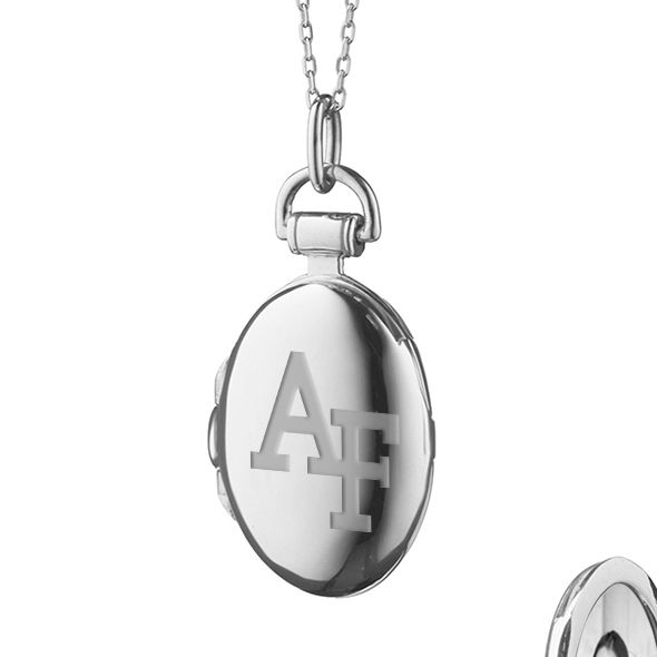 US Air Force Academy Monica Rich Kosann Petite Locket in Silver - Image 2