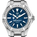 Indiana Women's TAG Heuer 35mm Steel Aquaracer with Blue Dial - Image 1