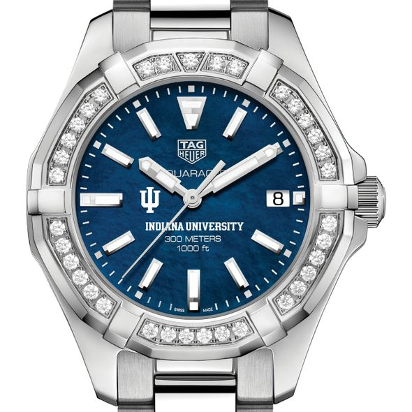 Indiana Women's TAG Heuer 35mm Steel Aquaracer with Blue Dial