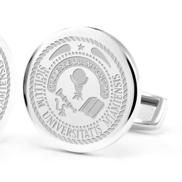 Miami University Cufflinks in Sterling Silver - Image 2