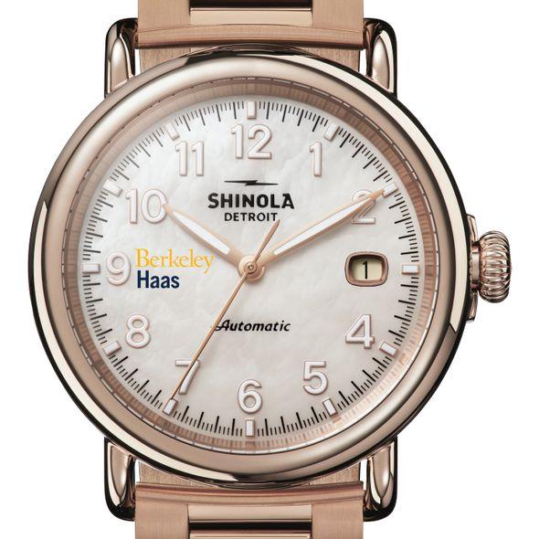 Berkeley Haas Shinola Watch, The Runwell Automatic 39.5mm MOP Dial - Image 1
