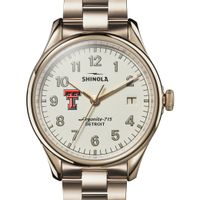 Texas Tech Shinola Watch, The Vinton 38mm Ivory Dial