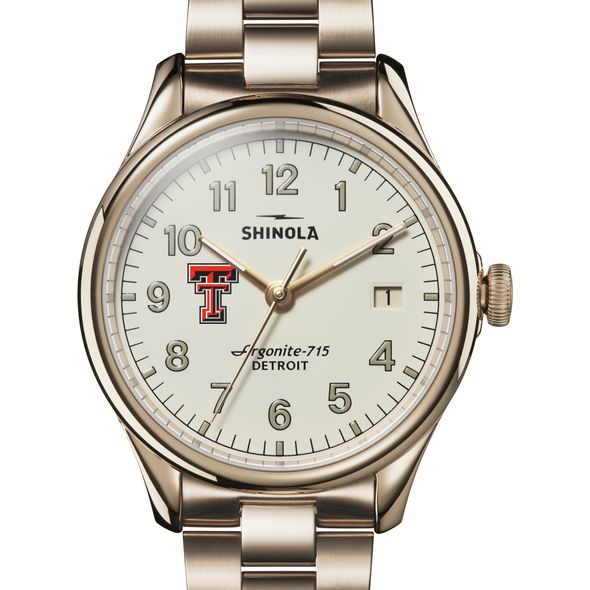 Texas Tech Shinola Watch, The Vinton 38mm Ivory Dial - Image 1
