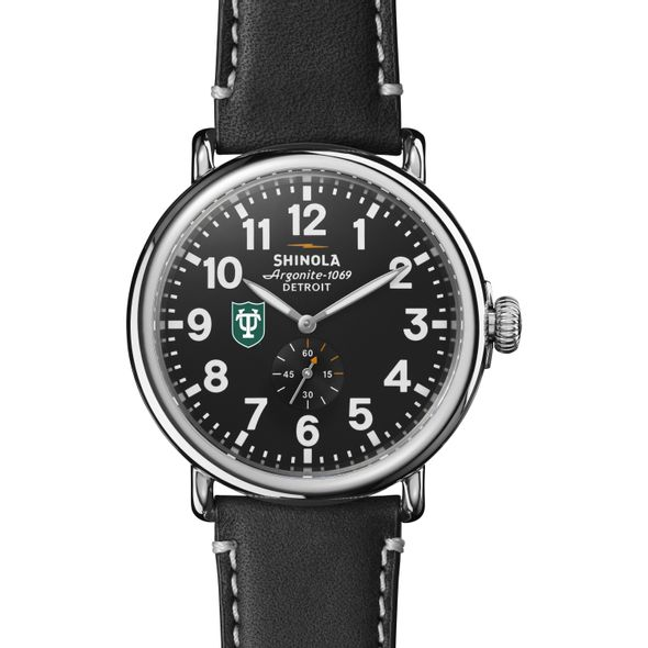 Tulane Shinola Watch, The Runwell 47mm Black Dial - Image 2