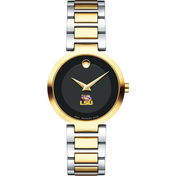 Louisiana State University Women's Movado Two-Tone Modern Classic Museum with Bracelet - Image 2