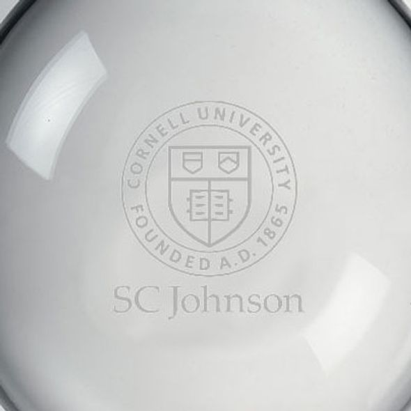 SC Johnson College Glass Ornament by Simon Pearce - Image 2
